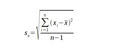 Definition of Sample Standard Deviation