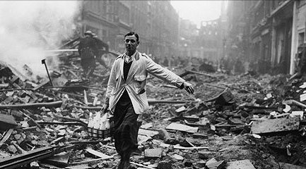 London Milkman During the Blitz