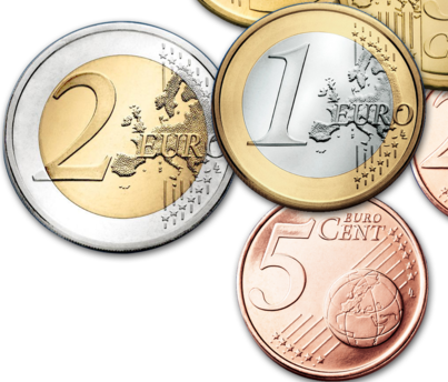 Illustration of Euro Coins