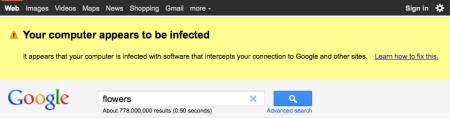 Google's Malware Warning