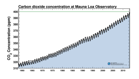 Carbon Dixoide Levels at Mauna Loa